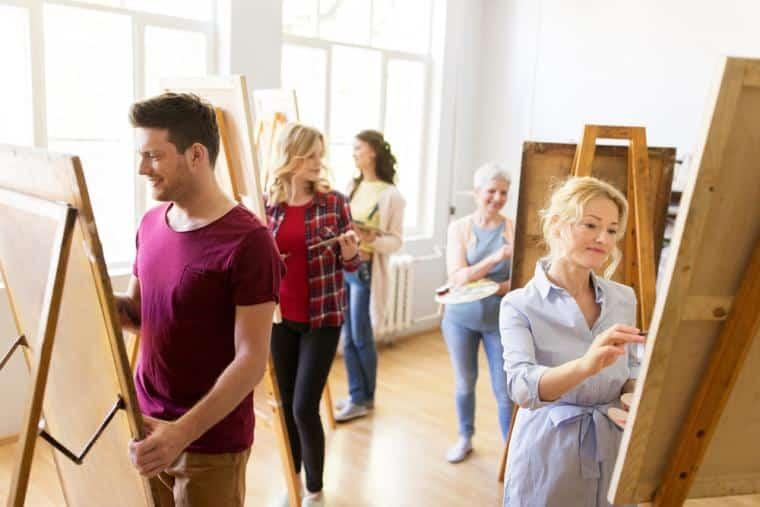 team building insolite atelier cours peinture paris